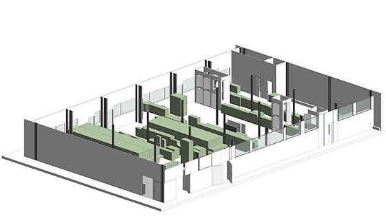 moulage 3D d'une chaine de production agroalimentaire