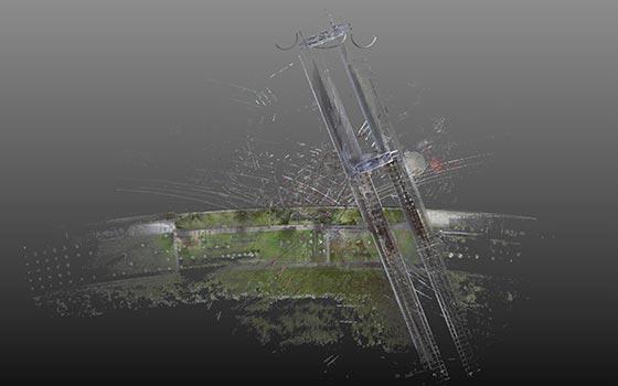 Vue aerienne 3D du viaduc de Guerville